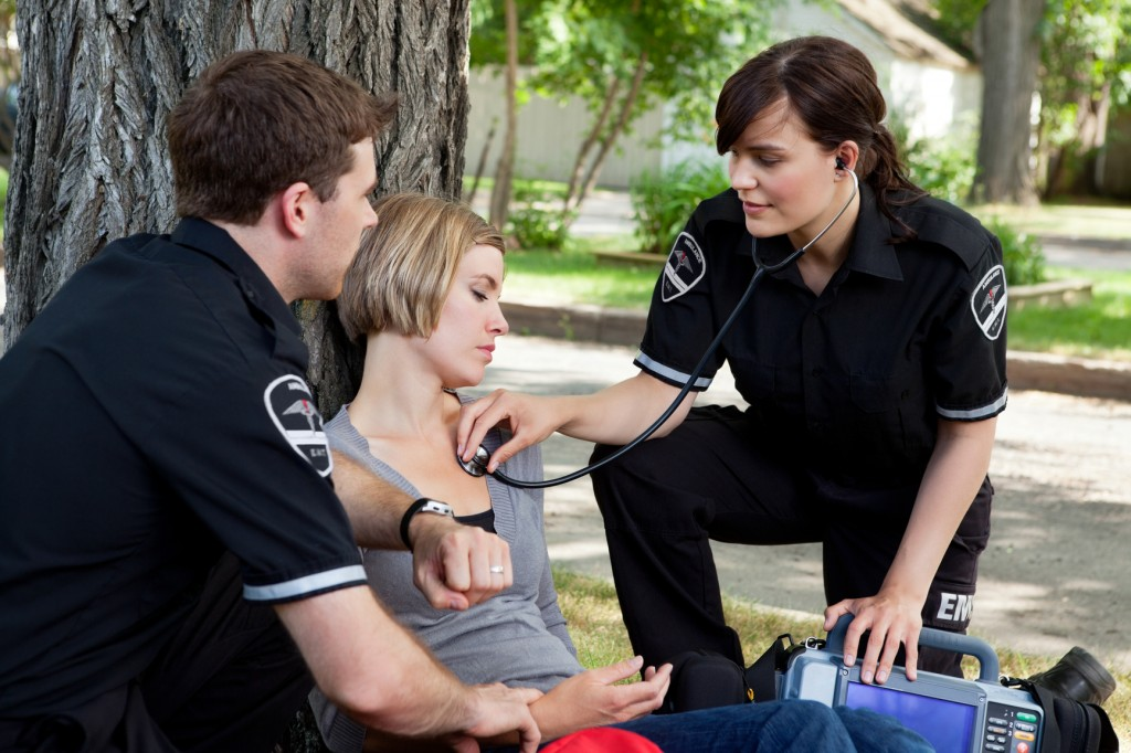 Appleyard emergency medical professionals assessing an injured patient